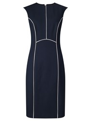 John Lewis Blair Contrast Ponte Dress Navy White