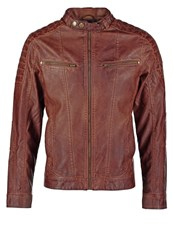 Tom Tailor Faux Leather Jacket Roasted Coffee Cognac