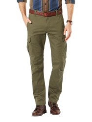 Dockers Slim Fit Twill Field Cargo Trousers Olive