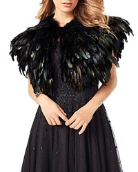 Phase Eight Alana Feather Cape Black