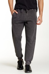Request Quilted Jogger Black