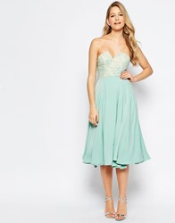 Jarlo Violetta Midi Dress With Lace Bust Detail Mint Green