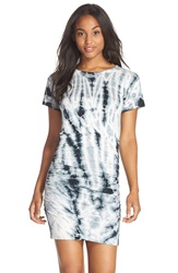 Fraiche By J Tie Dye Dress Black White