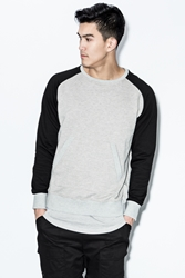 Unyforme Heather Grey Ari Crewneck L S T Shirt