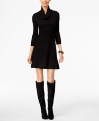 Inc International Concepts Cowl Neck Sweater Dress Only At Macy's Deep Black