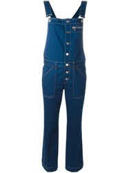 Stella Mccartney Button Up Dungarees Blue
