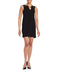 Xscape Evenings Hardware Accented Shift Dress Black Gold