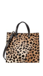 Clare V. Petite Haircalf Simple Tote Leopard