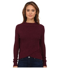 Free People Boho Wrap Sweater Plum Women's Sweater Purple