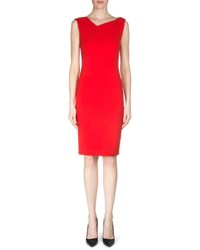 Roland Mouret Grainger Crepe Sheath Dress Berry Red