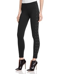 David Lerner Lattice Lace Up Leggings Black