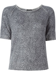 Emporio Armani Shortsleeved Sweater Grey
