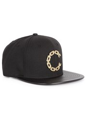 Crooks And Castles Black Chain Embellished Twill Cap