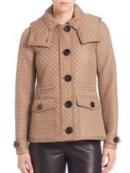 Burberry Nealsbrooke Quilted Short Parka Taupe