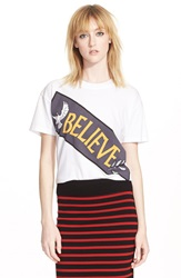 Marc By Marc Jacobs 'Believe' Graphic Cotton Tee White Multi