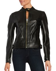 Cole Haan Quilted Italian Leather Jacket Black