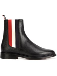 Thom Browne Tricolor Panel Chelsea Boots Black