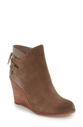 Hinge Women's 'Tracer' Wedge Bootie Taupe Suede