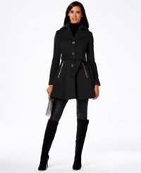 Inc International Concepts Skirted Coat Only At Macy's Black