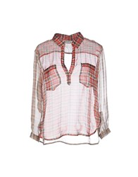 Gold Case Shirts Blouses Women Coral