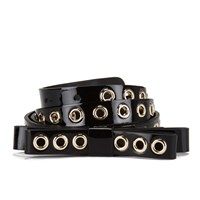 Red Valentino Redvalentino Women's Stud Bow Belt Black