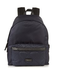 Moncler Romeo Quilted Pocket Nylon Backpack Navy
