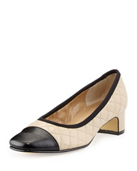 Neiman Marcus Daley Quilted Napa Pump Pudding Black
