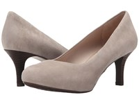 Rockport Seven To 7 Low Pump Tuffet Suede High Heels Gray