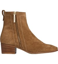 Lk Bennett Fenick Suede Ankle Boots Bro Tobacco