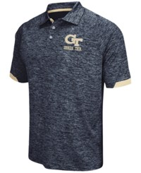 Colosseum Men's Georgia Tech Yellow Jackets Spiral Ii Polo Shirt Black