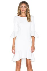 Minty Meets Munt Let It Flare Dress White