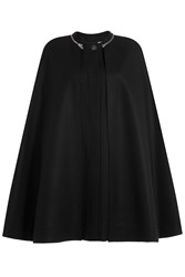 Mcq By Alexander Mcqueen Virgin Wool Cape With Zipper Detail Black