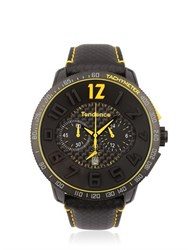 Tendence Carbon Fiber Chr Black And Yellow Watch