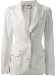 Moschino Cheap And Chic Scalloped Trim Blazer
