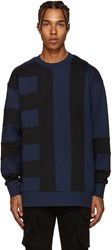 Diesel Black Gold Blue And Bonded Pullover