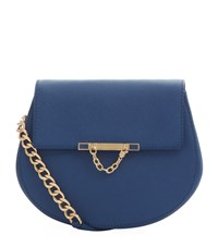 Juicy Couture Mini J Saffiano Leather Cross Body Bag Female Blue