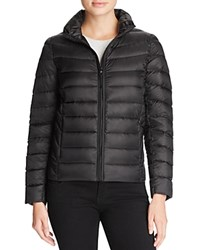 Aqua Puffer Jacket Shiny Black