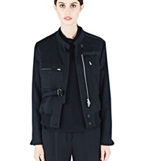 Agnona Military Style Cashmere Jacket Black