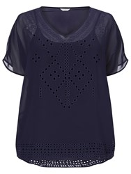 Windsmoor Cut Out Detail Top Navy