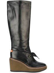 See By Chloe Wedge Boots Black