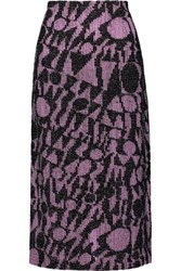 Missoni Crochet Knit Cotton Blend Midi Skirt Multi