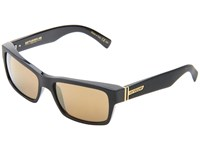 Von Zipper Fulton Black Gold Chrome Plastic Frame Sport Sunglasses