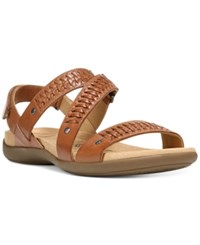 Naturalizer Eliora Flat Sandals Women's Shoes Saddle Tan