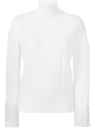 Thom Browne Roll Neck Sweater Nude And Neutrals