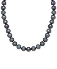 Honora Style Black Dyed Freshwater Pearl Strand Necklace 8 9Mm In 14K Gold