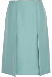 Marni Folded A Line Cady Skirt Blue