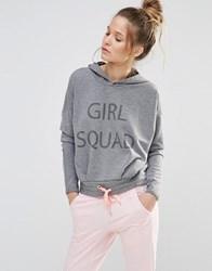 Noisy May Girl Squad Cropped Jumper Grey
