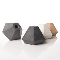 Coloured Concrete Candleholder In Coral And Grey An Artful Life