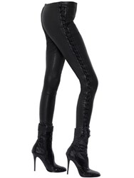 Haider Ackermann Lace Up Stretch Leather Leggings