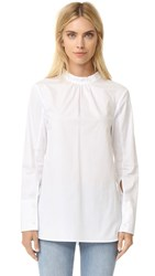 Tibi Backwards Shirt White
